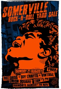 Somervile Rock n Roll Yardsale August 21 2011 James Brown Poster