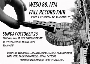 WESU-FM Record Fair - October 26th 2014
