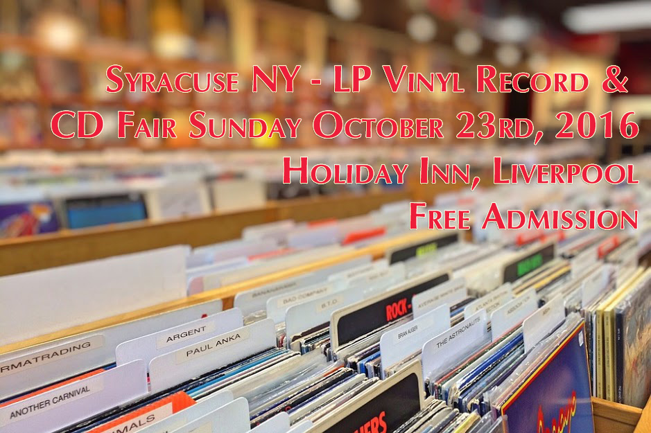 Syracuse NY LP Vinyl Record and CD Fair October 23 2016