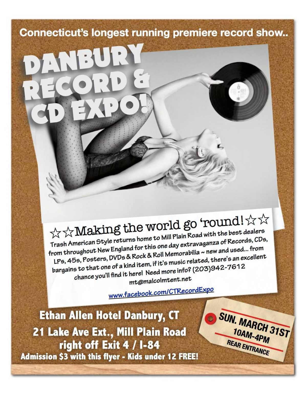 Danbury CT – Record Expo – Ethan Allen Inn – Sunday March 31st, 2019
