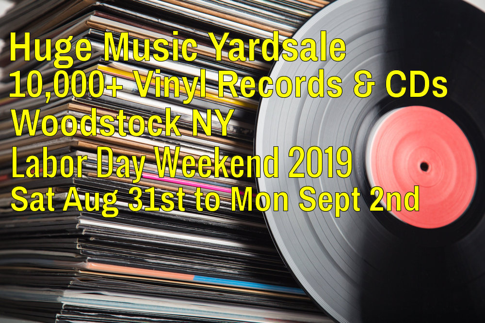 Huge Labor Day Music Yardsale Woodstock NY